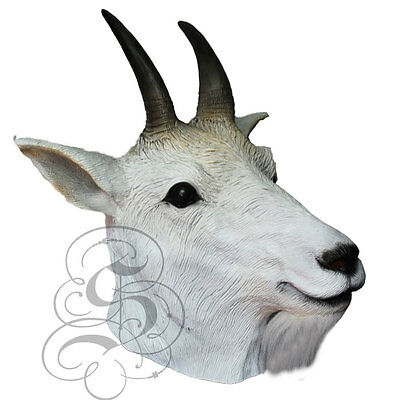 Latex Mountain Goat - Tierkopf Kostüm Karneval Party Theater - Theater Tier Kostüm