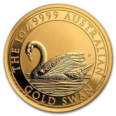 SPECIAL PRICE! 2017 Australia 1 oz Gold Swan BU - SKU #156844