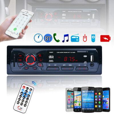 Bluetooth Car Stereo Audio In Dash Fm Aux Sd Usb Mp3 Input Receiver Radio Player