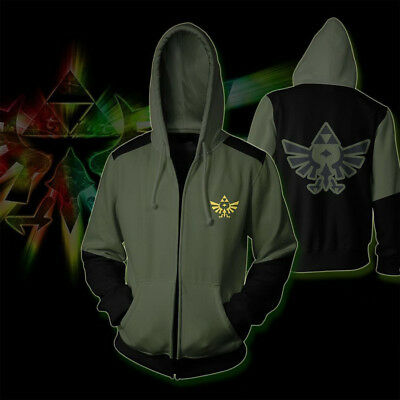 The Legend Of Zelda Hoodie Reißverschluss Cosplay Kostüm - Legends Of Zelda Kostüm