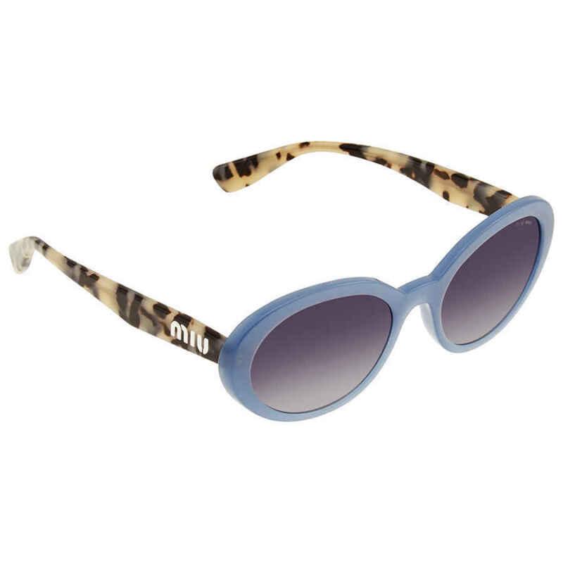 Miu-Miu-Gray-Gradient-Blue-Silver-Mirror-Oval-Ladies-Sunglasses-0MU