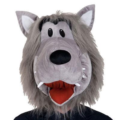 Grau Wolf Maske Kopf Deluxe Wildes Tier Maske Erwachsene Kostüm Zubehör (Deluxe Wolf Maske)