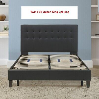 Platform  Bed Frame Metal Base Foundation Cal King King Queen Full Twin