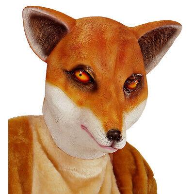 LATEX FUCHS MASKE # Fuchsmaske Tier Waldtier Kostüm Party Verkleidung Deko 96633