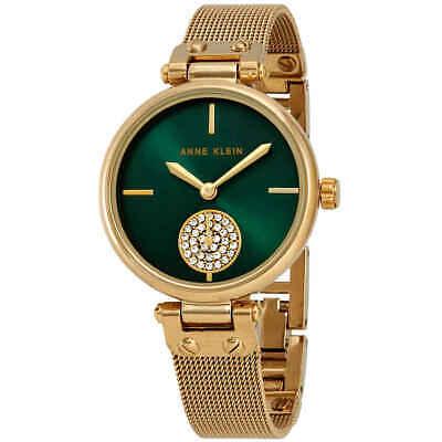 Anne Klein Swarovski Crystals Quartz Green Dial Ladies Watch AK/J3000GNGB