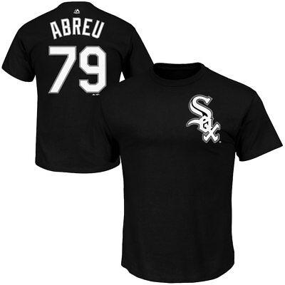 Chicago White Sox #79 José Abreu Men's Black Cross Stitch Style Jersey Tee (Mlb Chicago White Sox Jerseys)