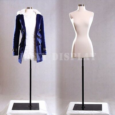 Female Size 2-4 Mannequin Dress Form Hard Dress Form White F24wbs-05bk