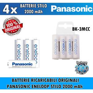 BATTERIE-RICARICABILI-4-STILO-AA-ENELOOP-PANASONIC-ex-SANYO-2000-mAh-2100-cicli