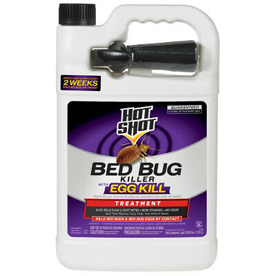 Hot Shot Bed Bug Flea and Dust Mite Killer with Egg Kill 1-Gallon -
