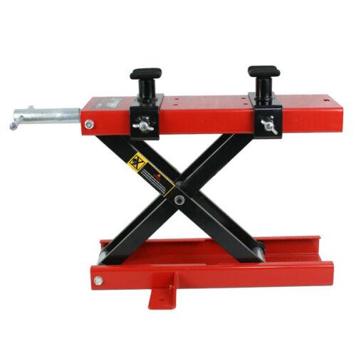 1100 LB Dirt Bike ATV Scissor Jack Mini Motorcycle Lift Crank Floor Stand Red Automotive Tools & Supplies