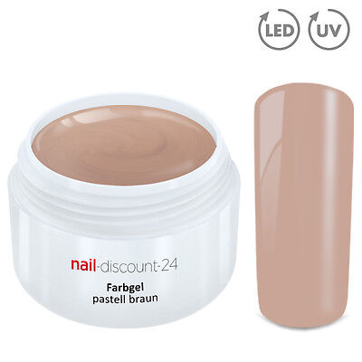 UV Farbgel PASTELL Gel brown nude 5ml French Color Modellage Nailart Naildesign