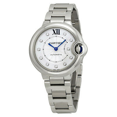 Cartier Ballon Bleu Automatic Diamond Dial Ladies Watch WE902074