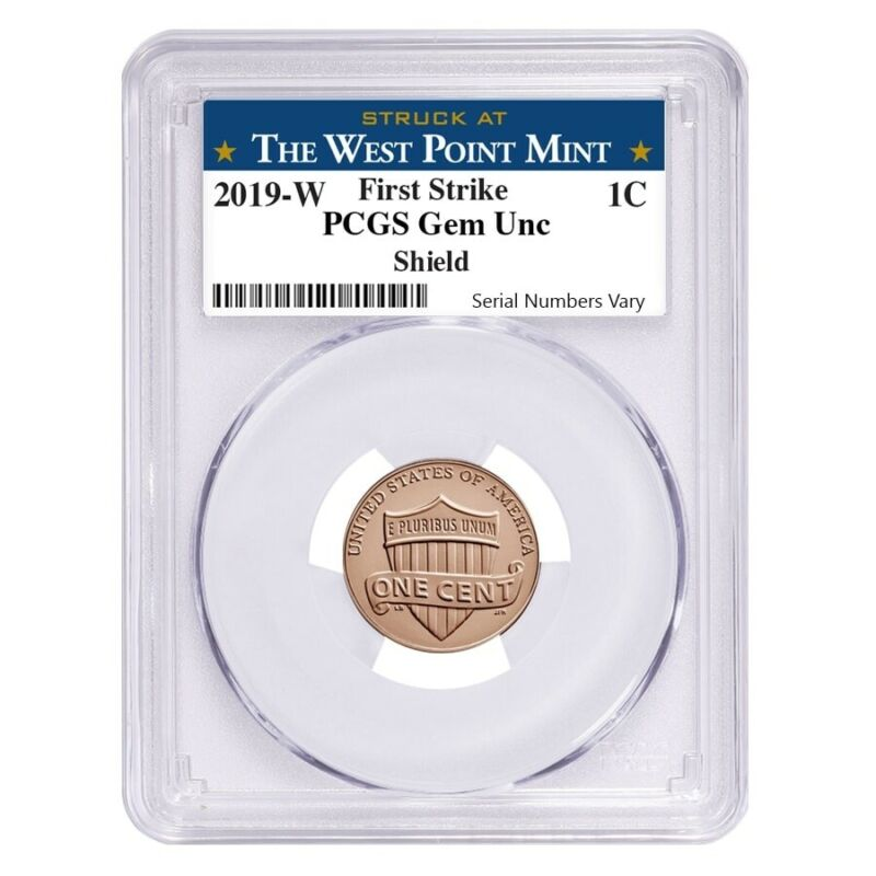 Sale Price - 2019 W Uncirculated Lincoln Penny Cent Comm. PCGS Gem UNC FS (West