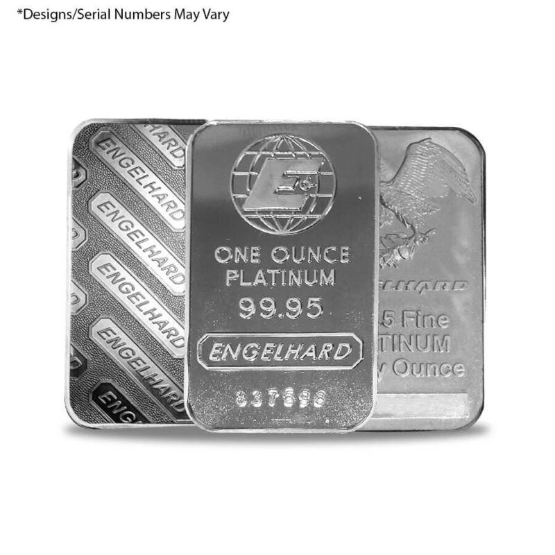 1 oz Engelhard Platinum Vintage Bar .9995 Fine (Secondary Market)