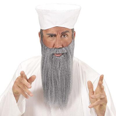 ARABER SET Hut Mütze Turban grauer Bart Inder Arabien Orient Kostüm Party - Arabische Party Kostüm