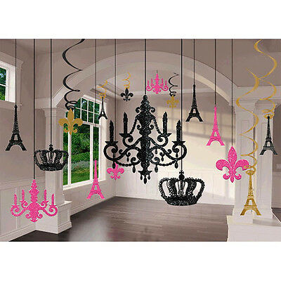 Day in Paris Glitter Chandelier Decoration Kit Wedding & Birthday Party Supplies