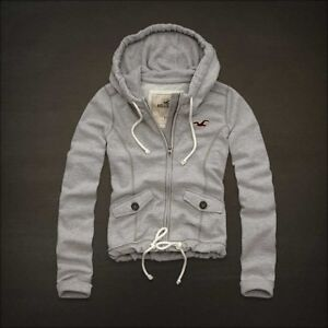 NEW Girls Junior Hollister Southside full zipper hoodie ...