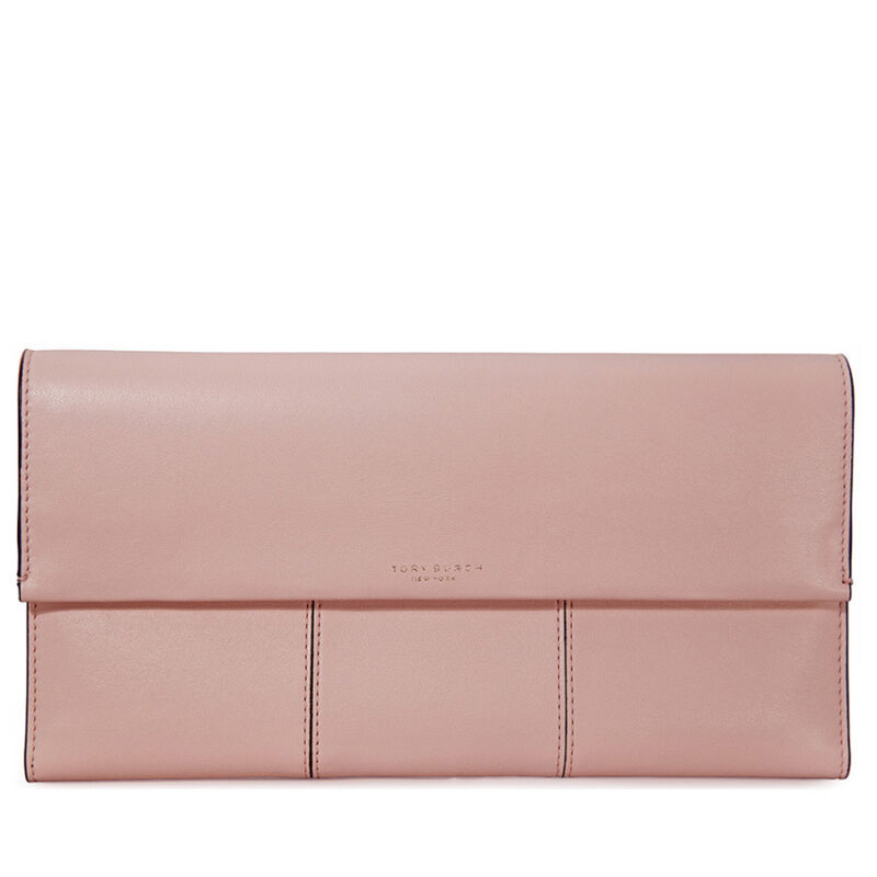 Tory Burch Block-T Travel Clutch - Shell Pink