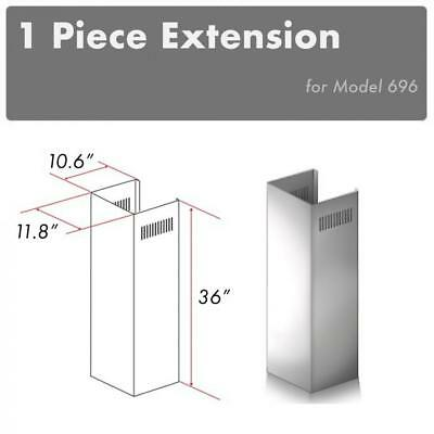 Ceiling Stainless Steel Range (ZLINE CHIMNEY EXTENSION FOR WALL RANGE HOOD up TO 10 FT ceiling for 696)