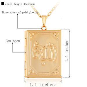 Gold plated ALLAH locket ( new)