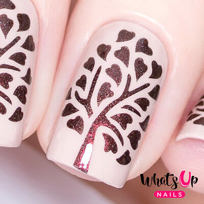 Tree of Love Stencils for Nails, Valentine's Day Nail Stickers, Nail Vinyls - Valentine's Day Tree