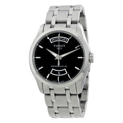 Tissot T0354071105101 Couturier Powermatic 80 Automatic Black Dial Watch NWT