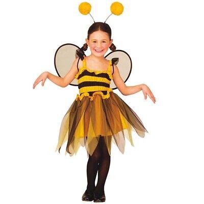 KINDER BIENENKOSTÜM Karneval Bienchen Bienen Kostüm Mädchen Kleid Flügel - Biene Flügel Fühler Kostüm