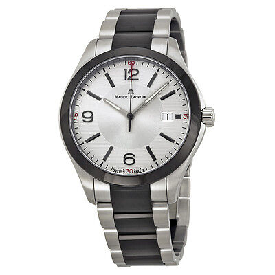 Maurice Lacroix Miros Date Silver Dial Stainless Steel Mens Watch