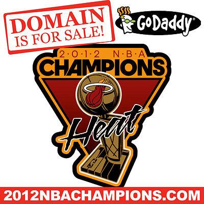 2012 Nba Champions  Com   Miami Heat   Basketball   Domain Name   Godaddy