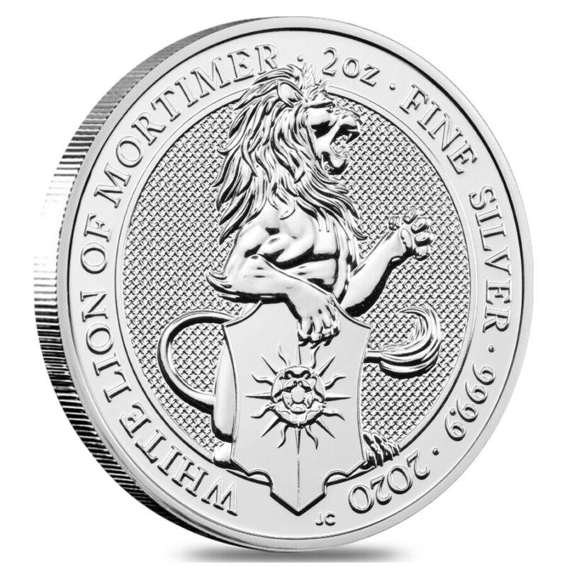 2020 Great Britain 2 oz Silver Queen