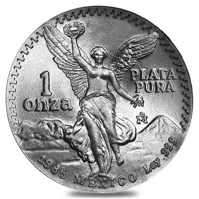 1985 1 Oz Silver Mexican Libertad Bu