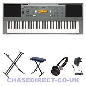 Yamaha Electric Portable Keyboard PSR-E 353 Digital Piano Double X Stand Set