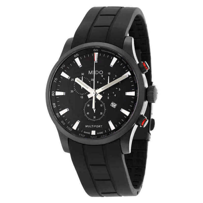 Mido Multifort Chronograph Black Dial Men Watch M0054173705120