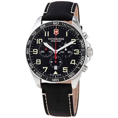 Victorinox Fieldforce Chronograph Quartz Black Dial Men's Watch 241852