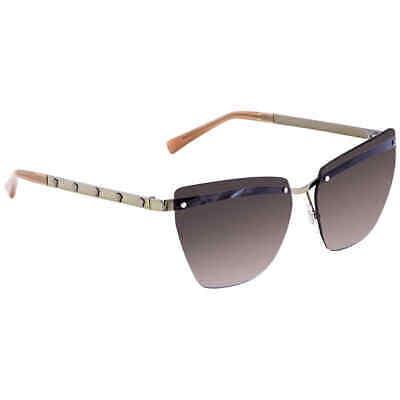 Versace Violet Gradient Brown Mirror Silver Cat Eye Ladies Sunglasses VE2190