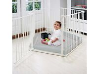 2 in 1 Metal Folding Playpen and Room Divider
