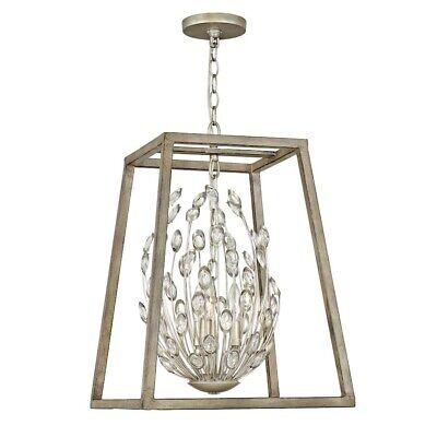 Hinkley Lighting 2 Light Loren Chandelier, Silver Leaf - -
