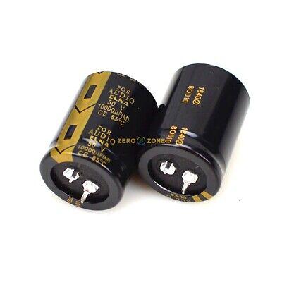 2pcs 10000uf 50v Elna Hifi Audio Filter Electrolytic Capacitor 30x50mm