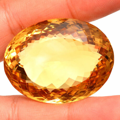 VVS AAA Natural Citrine 161 Cts Huge Oval Cut Golden Yellow Certified Gemstone