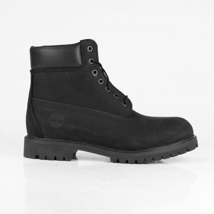 Timberland Men's Boot 6 Inch Premium 10073 Black Nubuck
