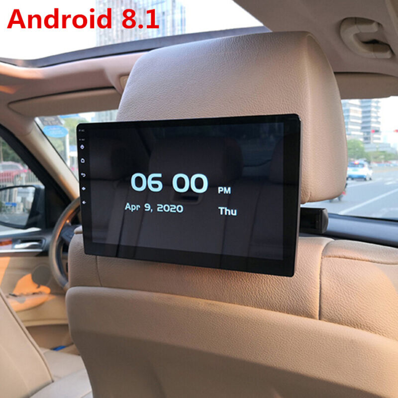 "1x 10.1"" 1080P Car Rear Seat Screen Monitor Android 8.1 Headrest MP5 Player Wifi"