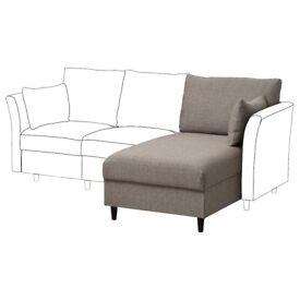 New Grey SÄLLERYD Chaise Longue Section