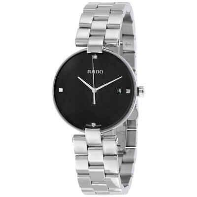 Rado Coupole Black Dial Ladies Stainless Steel Watch R22852703