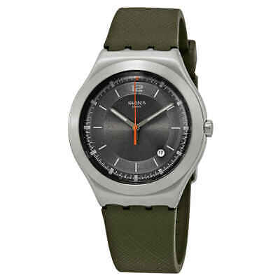 Swatch Tic-Green Grey Dial Men's Watch YWS425