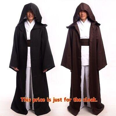 Jedi Cape (Men's STAR WARS JEDI/ SITH Hooded Cape Cloak Halloween Cosplay Costume)