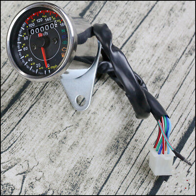 Multifunction Motorcycle Odometer Speedometer KM/H MPH With Fuel Level Indicator