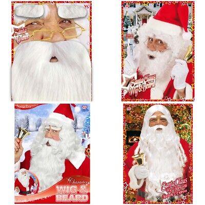 WEIHNACHTSMANN SET # Weihnachten Nikolaus Santa Bart Perücke - Weihnachten Santa Kostüm Set