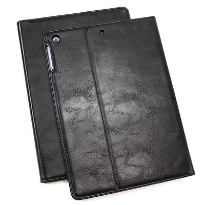 Leder Schutzhülle für Apple iPad Air 2 Tablet Tasche Cover Case Stand schwarz Schwarz Leder Ipad Air Cover