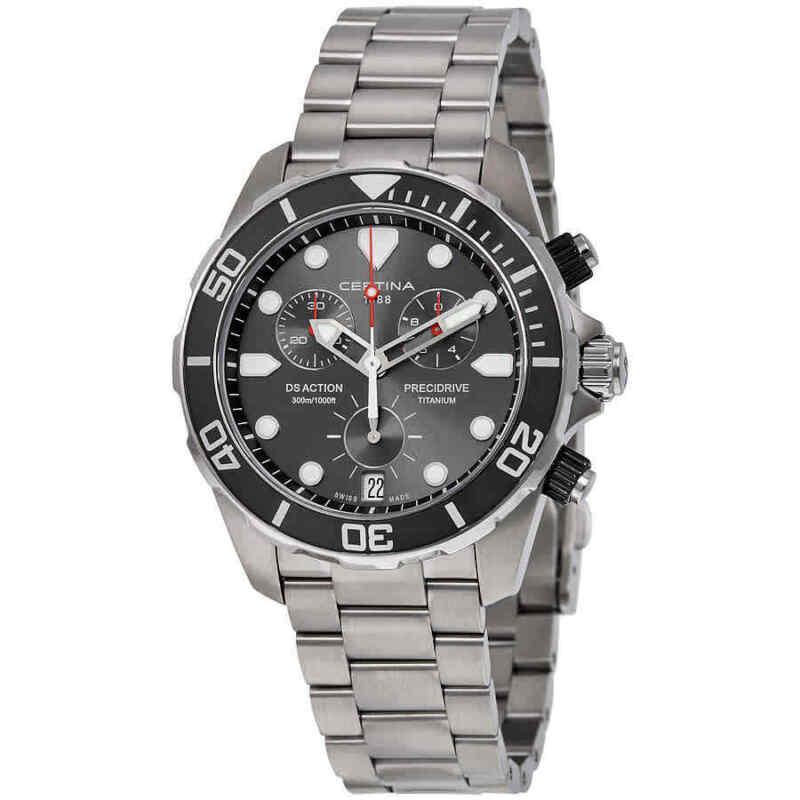 Certina DS Action Chronograph Grey Dial Titanium Men Watch C032.417.44.081.00