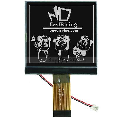 Black 160x160 Cog Graphic Lcd Module Displayuc1698 Controller Wtutorial